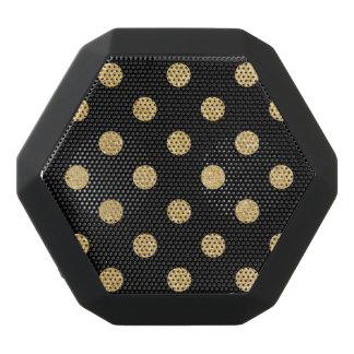 Elegant Black And Gold Glitter Polka Dots Pattern Black Bluetooth Speaker