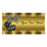 Elegant Black and Gold Masquerade Party Banner