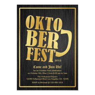 Elegant Black and Gold Oktoberfest Card