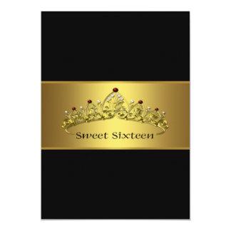 Elegant Black and Gold Quinceanera Custom Announcement