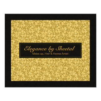 Elegant Black And Gold Tones Glitter & Sparkles Flyer