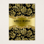 Elegant Black And Gold Vintage Damasks 4 Business Card