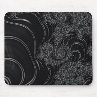 Elegant Black and Grey Fractal Mouse Pad