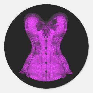 Elegant Black and Purple Corset Stickers