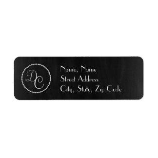 Elegant Black and Silver Address Label