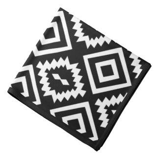 elegant black and white aztec style. bandana