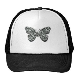 Elegant Black And White  Butterfly Trucker Hat