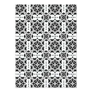 Elegant Black and White Classic Damask Pattern Announcement