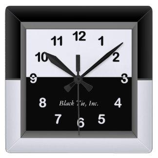 Elegant Black and White Clock
