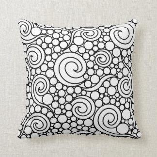 Elegant Black and White Cushion