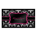 Elegant Black and White Damask Salon and Spa Business Card Template