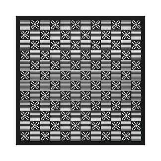 Elegant Black and White Flowers Gallery Wrapped Canvas