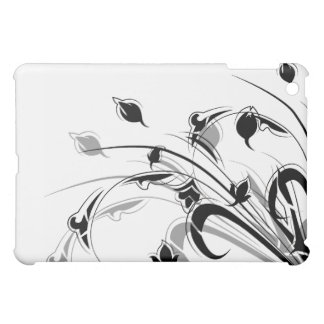 Elegant Black and White Flowers Cover For The iPad Mini