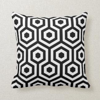 Elegant Black and White Pattern Pillow Throw Pillows