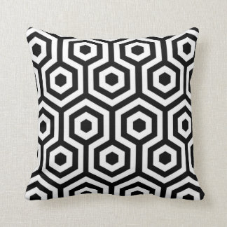 Elegant Black and White Pattern Pillow Cushions