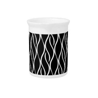 Elegant black and white pattern pitcher