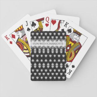 Elegant black and white pattern playing cards