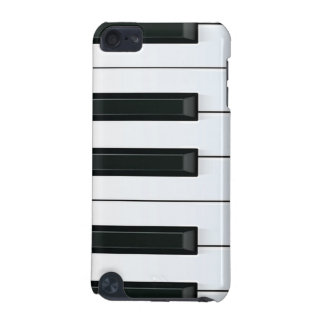 Elegant Black and White Piano Keys Pattern iPod Touch 5G Cases