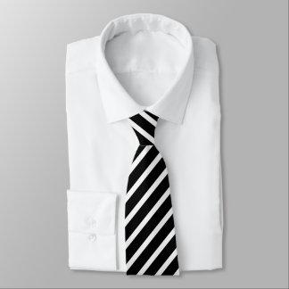 Elegant black and white striped tie,stripes tie