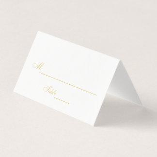 Elegant Black and White Wedding Place Card