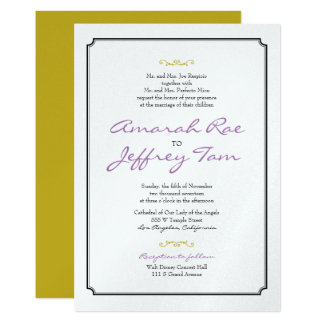 Elegant Black Border Wedding Invite