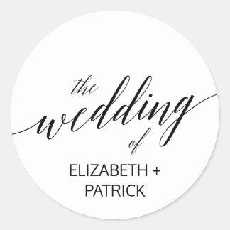Elegant Black Calligraphy Wedding Envelope Seals