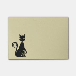 Elegant Black Cat Post-it® Notes