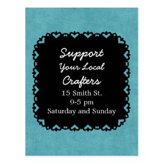 Elegant Black Chalkboard Craft Show Flyer Postcard