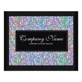 Elegant Black Colorful Purple Glitter & Sparkles 2 Flyer