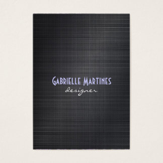 Elegant Black Cross Stitch Texture Look Business Card