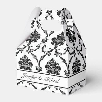 Elegant Black Damask Customizable Favor Box