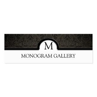 Elegant Black Damask Interior Decorator Business Card