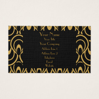 Elegant Black & Gold Art Deco Design Luxury Linen