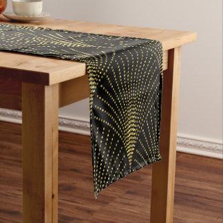 Elegant Black & Gold Art-Deco Pattern Short Table Runner