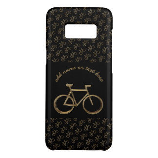 Elegant Black Gold Bike Bicycle Pattern Cycling Case-Mate Samsung Galaxy S8 Case