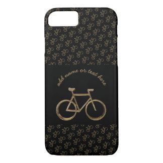 Elegant Black Gold Bike Bicycle Pattern Cycling iPhone 8/7 Case