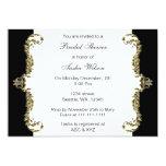 Elegant black gold Bridal Shower Invites