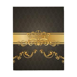 Elegant Black & Gold Damask Pattern Print Design