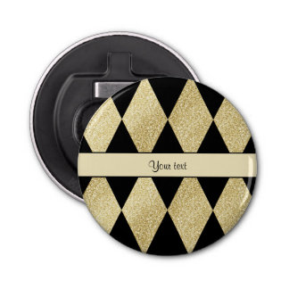 Elegant Black & Gold Diamonds