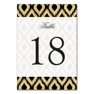 Elegant Black Gold Glitter Tribal Pattern Card