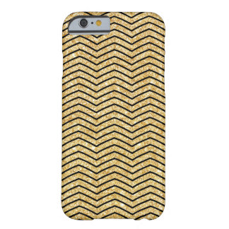 Elegant Black Gold Glitter Zigzag Chevron Pattern Barely There iPhone 6 Case