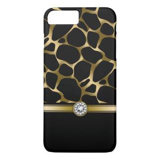 Elegant Black & Gold Leopard Animal Print iPhone 8 Plus/7 Plus Case