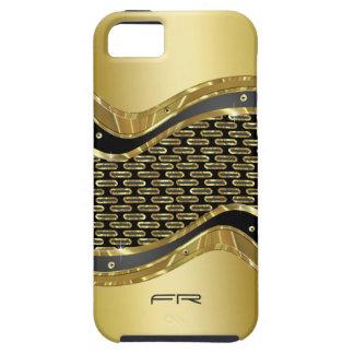 Elegant Black & Gold Metallic Look iPhone 5 Cases