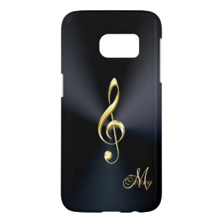 Elegant Black Gold Music Clef Galaxy S7 Case