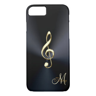 Elegant Black Gold Music Clef iPhone 7 Case