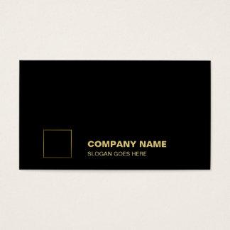 Elegant Black Gold Plain Professional Corporate Business Card