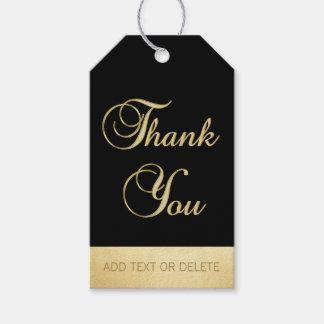 Elegant Black Gold THANK YOU gift favor