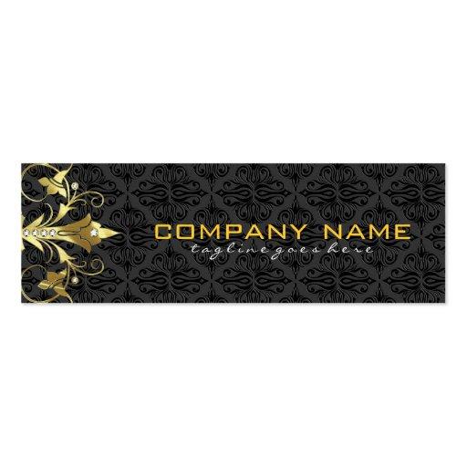 Elegant Black & Gold  Vintage Floral Damasks 2 Business Card Templates