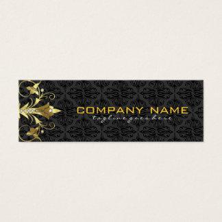 Elegant Black & Gold  Vintage Floral Damasks 2 Mini Business Card