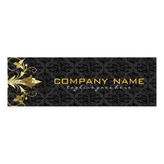 Elegant Black & Gold  Vintage Floral Damasks 2 Pack Of Skinny Business Cards